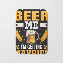 Beer wedding groom JGA graduation Bath Mat