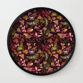 Spirit guiding moths Wall Clock