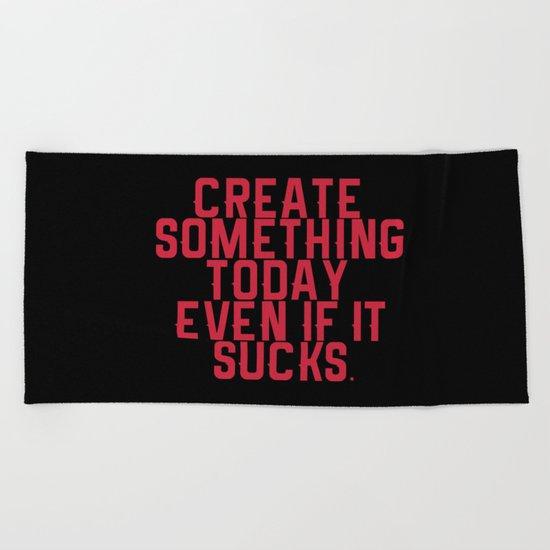 Create Something. Beach Towel
