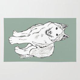 Sketch of siberian malamute Rug