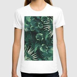 Tropical Jungle Leaves Night Siesta #1 #tropical #decor #art #society6 T-shirt