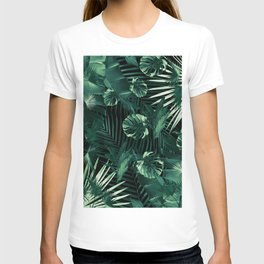 Tropical Jungle Leaves Night Siesta #1 #tropical #decor #art #society6 T-shirt