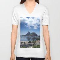 rio de janeiro V-neck T-shirts featuring Lovely Rio de Janeiro by Michel Lent