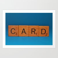 card Art Prints featuring Card by Beastie Toyz