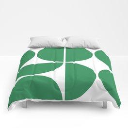 Mid Century Modern Green Square Comforters