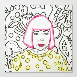 Kusama Portrait Canvas Print