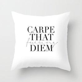 CARPE DIEM SIGN, Office Sign,Office Wall Art,Carpe That Fucking Diem,Enjoy Today,Relax Sign,Home Dec Throw Pillow