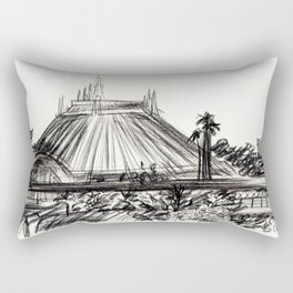 Space Mountain Rectangular Pillow