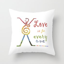 Mother Universe Love Throw Pillow