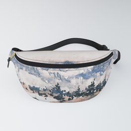 Watercolor Pine Trees Fanny Pack
