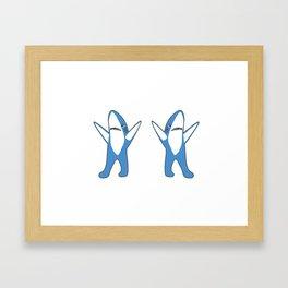Dancing Sharks Framed Art Print