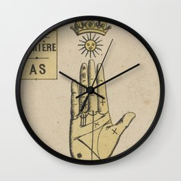 Vintage French Sun Tarot Card Wall Clock