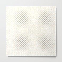 Small Gold Watercolor Polka Dot Pattern Metal Print