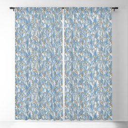 Light blue penguins Blackout Curtain