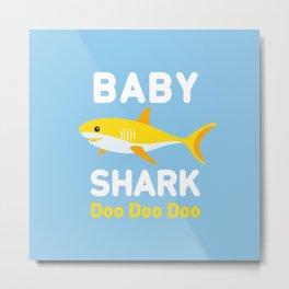 Baby Shark Metal Print