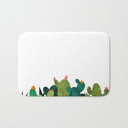 Cactus Watercolor Print Bath Mat