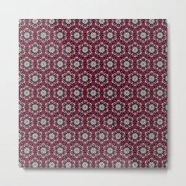 Eliot Seamless Purple & Blue Kaleidoscope Pattern Metal Print