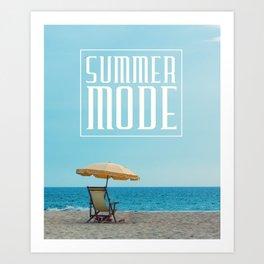 Summer mode Art Print