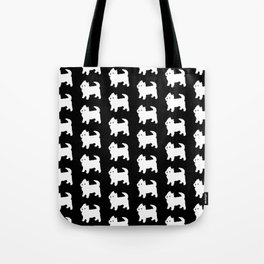Westie Dog Pattern Tote Bag