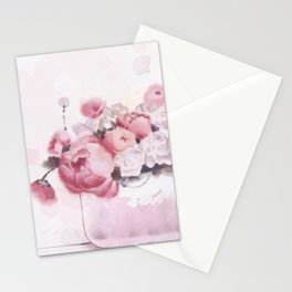 The tender touch of peonies Stationery Cards