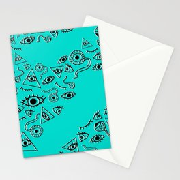 """The Eyes Have It"" in Turquoise Stationery Cards"