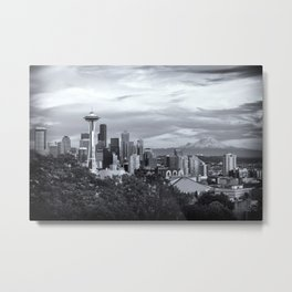 Seattle and Mount Rainier Metal Print