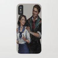 bioshock infinite iPhone & iPod Cases featuring Bioshock Infinite Vigor Poster by Camila Vielmond