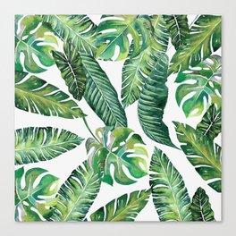 Jungle Leaves, Banana, Monstera #society6 Canvas Print