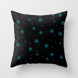 Kid pattern. Seamless winter кpattern on a white background. Throw Pillow