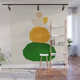 Abstraction_Balance_ROCKS_Minimalism_003 Wall Mural