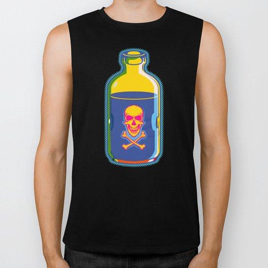 psychedelic poison bottle Biker Tank