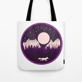 Mountains Fox Tote Bag