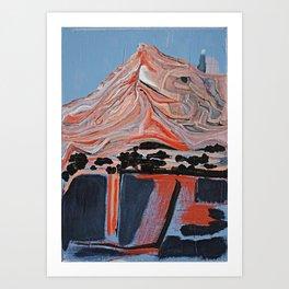Wake Up The Mountains - Original Art Canvas Painting by Jacob von Sternberg aka Anutu Art Print