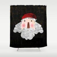 santa Shower Curtains featuring Santa  by Inmyfantasia