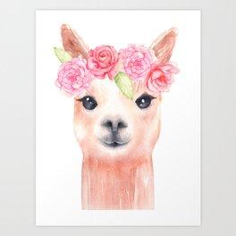 Sweet Alpaca Art Print