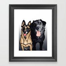 Two Dogs Framed Art Print