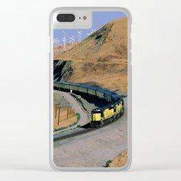 Chicago & Northwestern Train Through Altamont Pass Clear iPhone Case