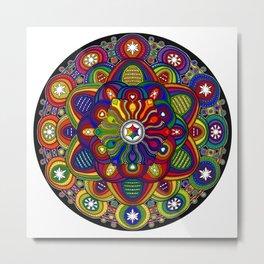 Mandala 42 - Psychedelic Mandala Rainbow series Metal Print