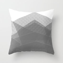 White Winter Skiing Mountain Climbing Throw Pillow