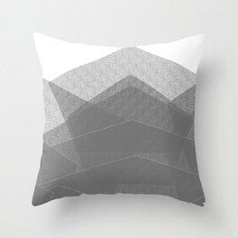 White Winter Skiing Mountain Climbing Throw Pillow