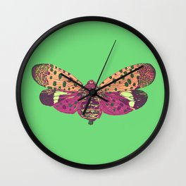 Spotted Lantern Fly Wall Clock