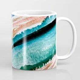Here's to the Dreamers [2]: a minimal, watercolor abstract piece in pinks, green, blue, and white Coffee Mug
