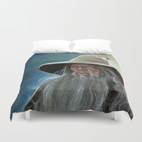 gandalf Duvet Covers featuring Gandalf the Grey by Manuela Mishkova