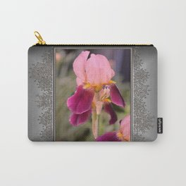 Tall Bearded Iris named Indian Chief Carry-All Pouch