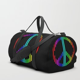 Techno Peace and Love Duffle Bag