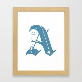 A is for Alice Framed Art Print
