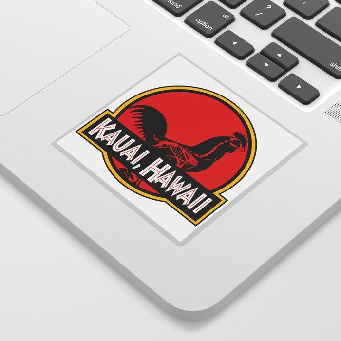 Kauai hawaii jurassic park rooster sticker