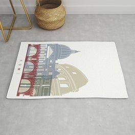 Rome skyline poster Rug