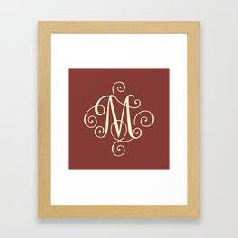 M Monogram - Red Framed Art Print