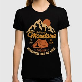 Vintage Retro Rocky Mountains Hiking Camping Gift T-shirt